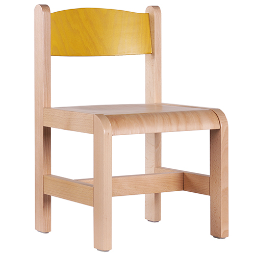 Dětské barevné dřevěné židle