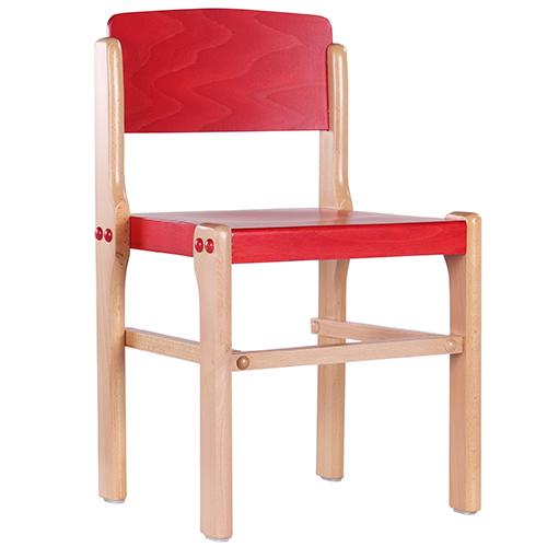 Bfarebné dětské drevené stoličky