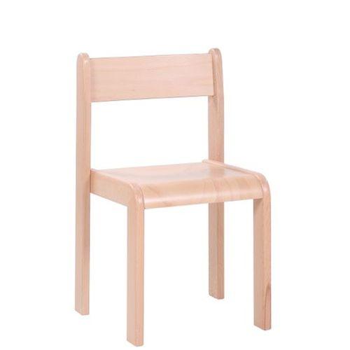 Dětské dřevěné stohovatelné židle D4 s krempou