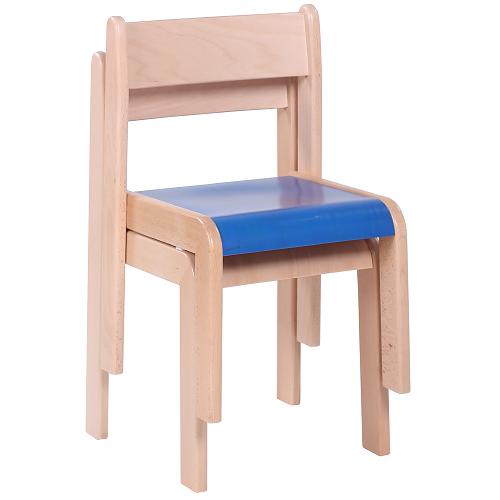 Detské drevené stoličky stohovateľné s krempou