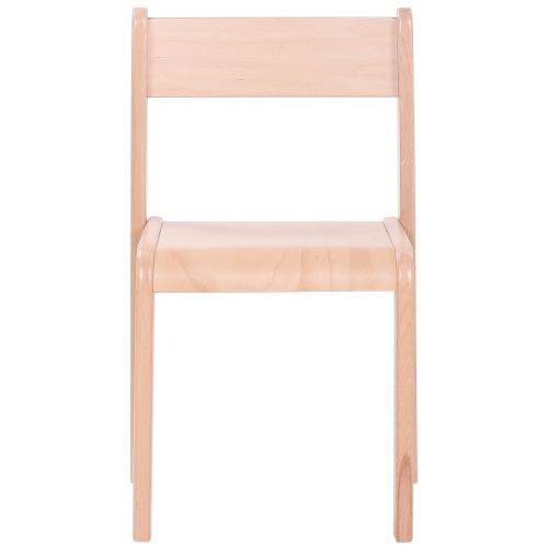 Dětské dřevěné židle stohovatelné s krempou