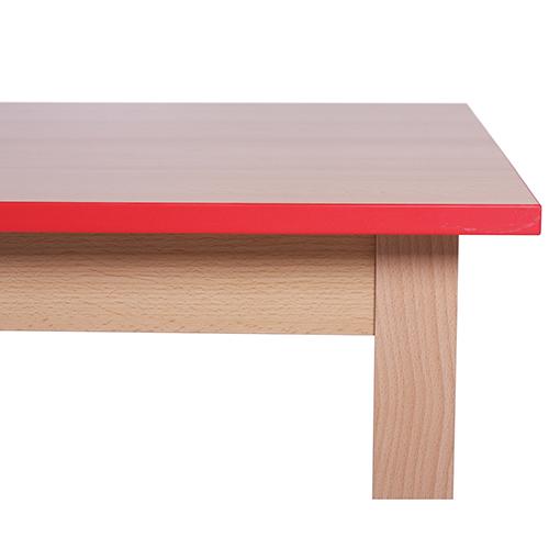 Barevné hrany stolu