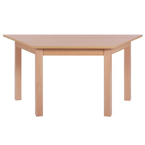 Dětské trapézové stoly dřevěné