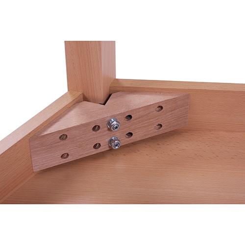 Konstrukční provedneí dětských stolů dřevěných