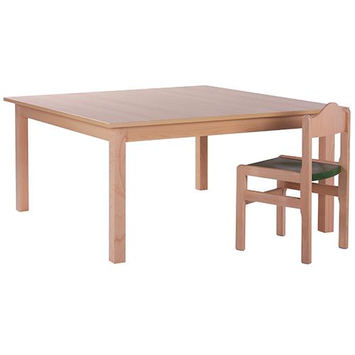 Dětské dřevěné stoly hranaté