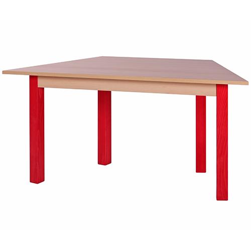 Lichoběžníkové dřevěnéí stoly