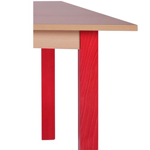 Dětské stoly dřevěné lichoběžníkové