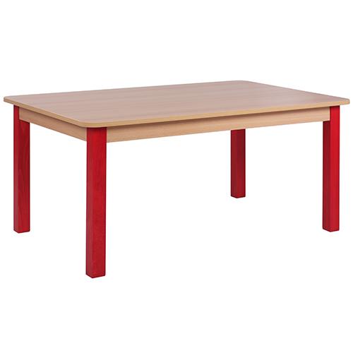 Dětské dřevěné odbélníkové stoly SOLO (více rozměrů)