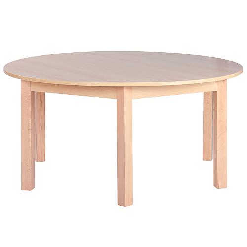 Okrúhle drevené detské stoly