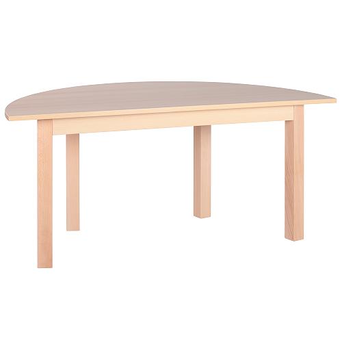 Dětské stoly půlkruhové dřevěné