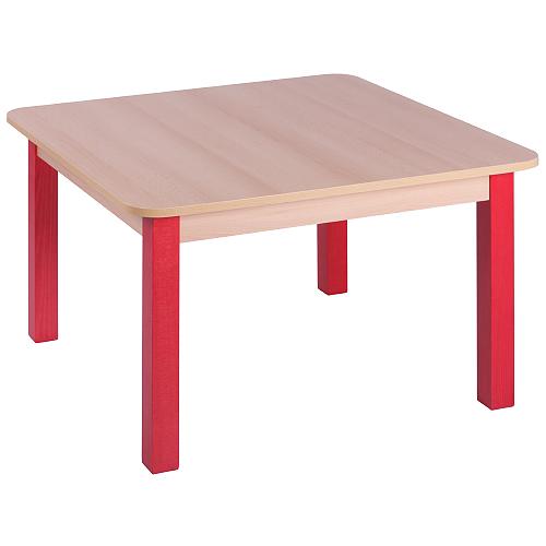 Dětské stoly dřevěné čtvercové hranaté