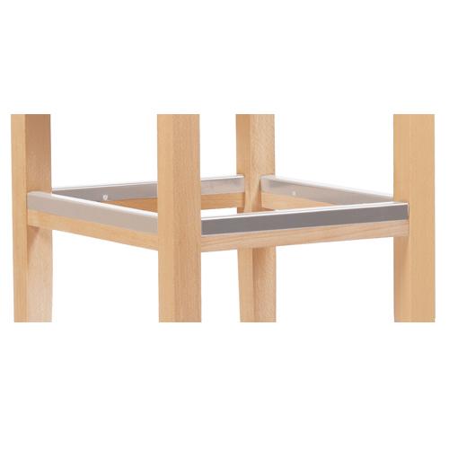 Nerezový kryt u barové židle