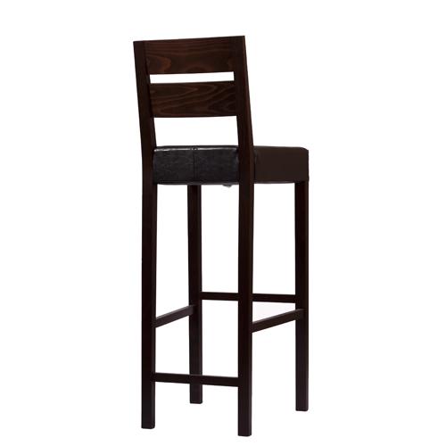 dřevěné čalouněné barové židle