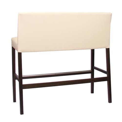 Dřevěné barové lavice koženka