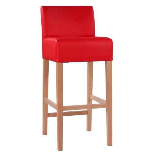 Dřevěné  barové židle se širokým sedákem