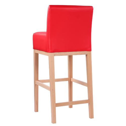 Barové židle dřevěné s čalouněným sedákem