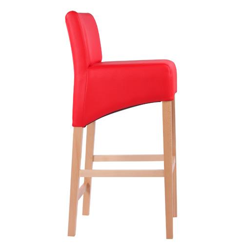 Dřevěné barové židle s čalouněným sedákem