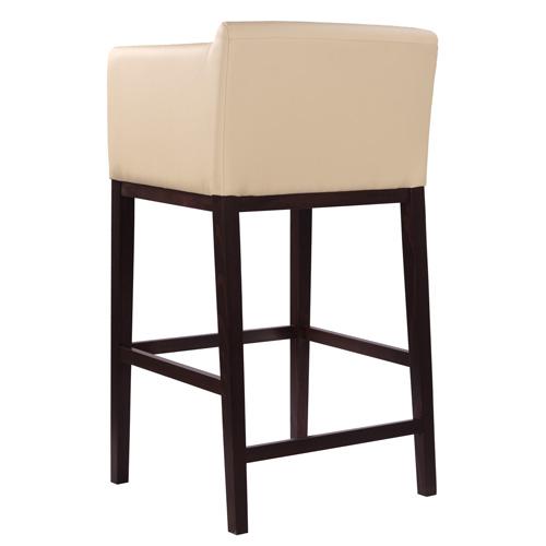 Dřevěné barové židle s opěrkou