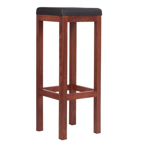 Dřevěné barové židle čalouněný sedák