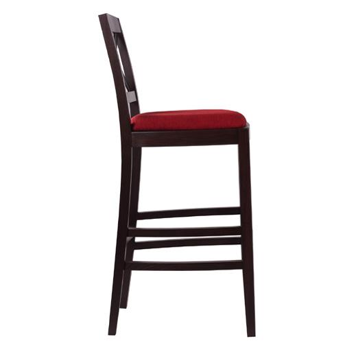 Drevené barové stoličky čalúnený sedák