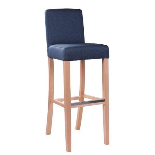 Čalouněná dřevěná barová židle RELA BAR
