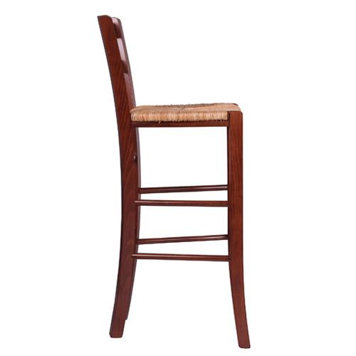 Dřevěné barové židle vyplétaný sedák
