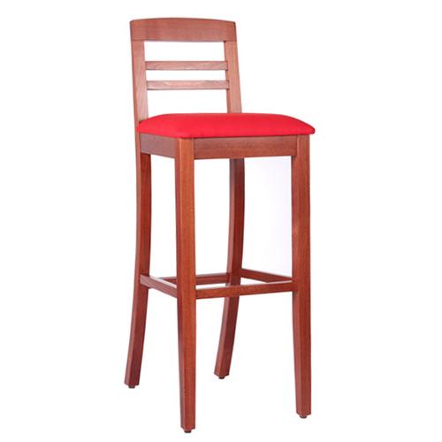 Čalouněná dřevěná barová židle BIANCA BAR P