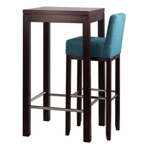 Barové židle a stůl nerez