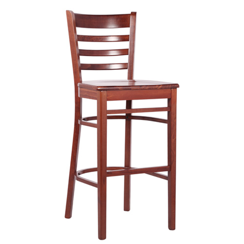 Dřevěná barová židle William Bar