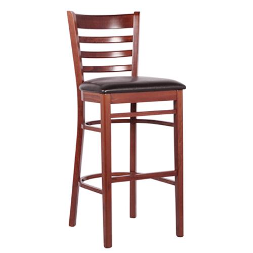 Barové dřevěné židle s čalouněným sedákem