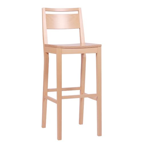 Dřevěná barová židle LUCAS