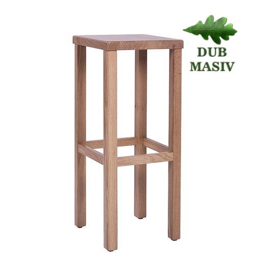 Dřevěná barová židle LIVO D masivní dub