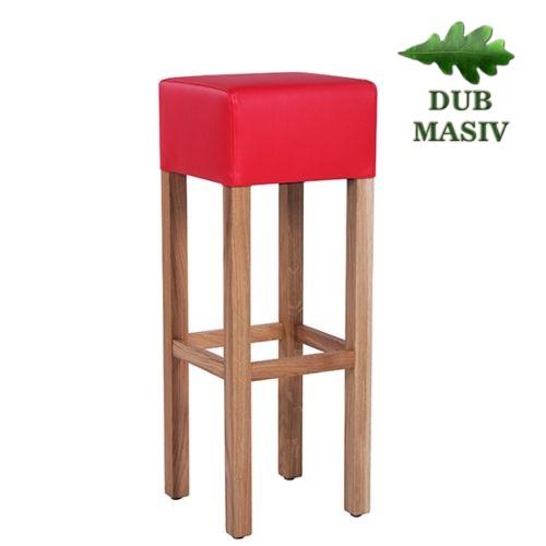 Dřevěná barová židle FABIO D masivní dub