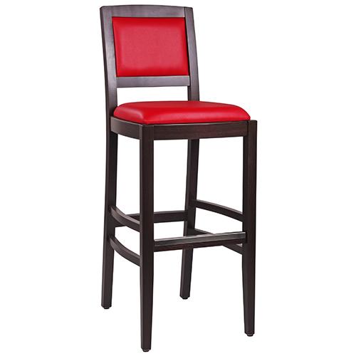 Dřevěné barové židle s opěradlem