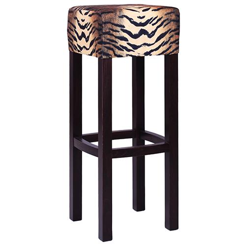 Drevené barové stoličky látka ZOO Safari