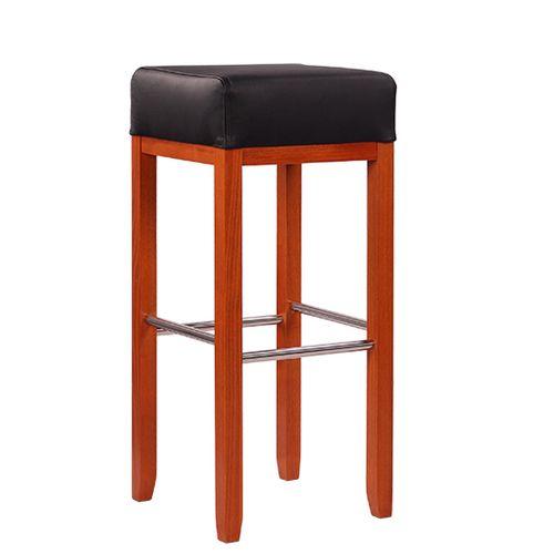 Dřevěná barová židle ALBERTO XL IX