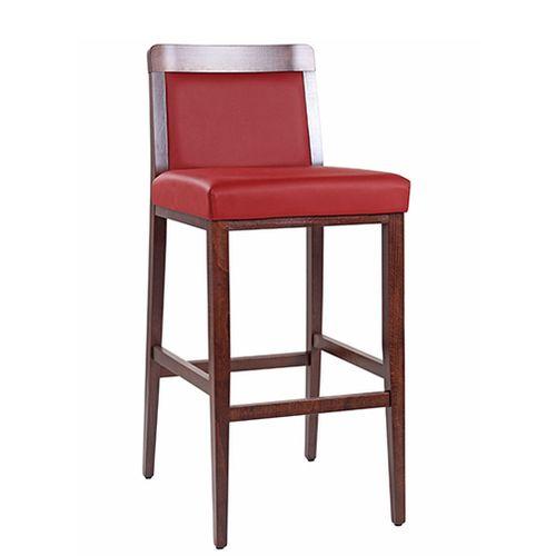 Barové stoličky čalúnené drevený sedák