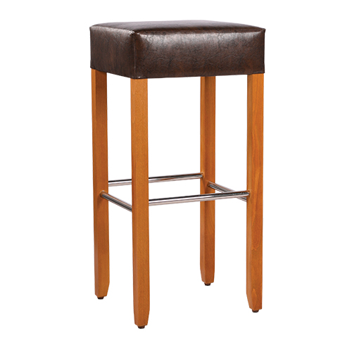 Dřevěné barové židle s čalouněním