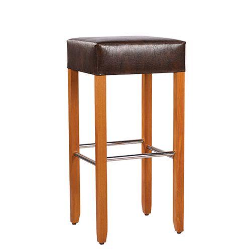 Dřevěné barové židle nerezové nožní spoje