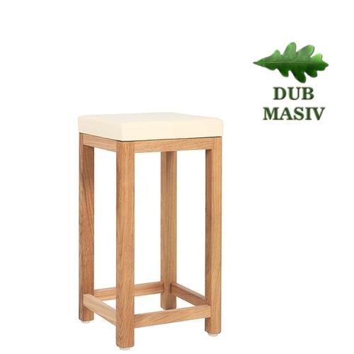 Dřevěné barové židle LIVO TH D P masivní dub čalouněný sedák
