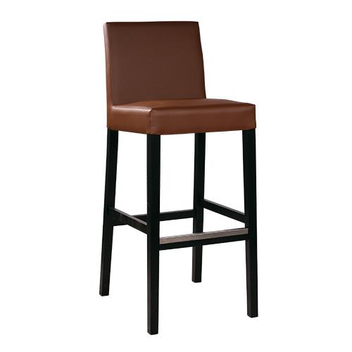 Dřevěné barové čalouněné židle do restaurace