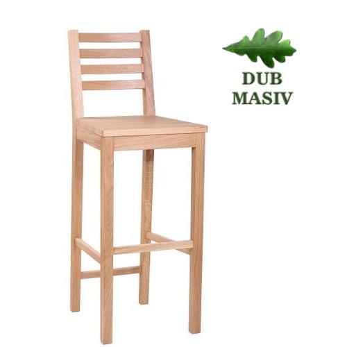 Dřevěné barové židle ARMANDO ME BAR dub masiv