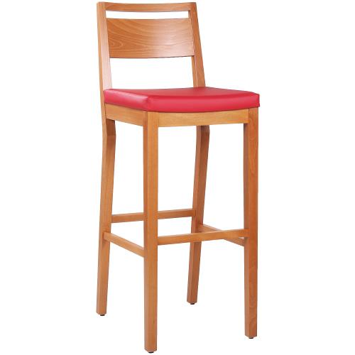Dřevěné restaurační barové židle