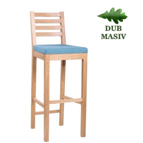 Restaurační barové židle ARMANDO PE BAR dub masiv