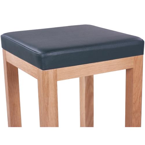 Barové židle dub masivní čalouněný sedák