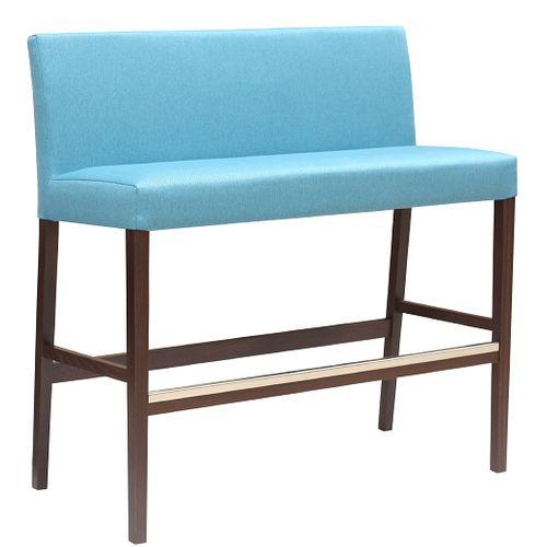 Čalouněná dřevěná barová lavice FALCO HB