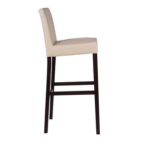 Drevené barové stoličky čalůnené