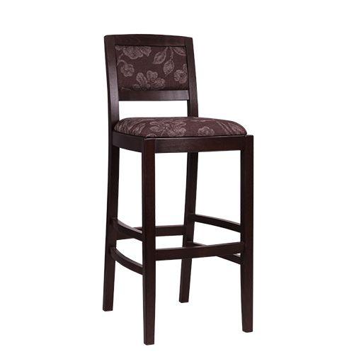 Drevené barové stoličky čalúnené opěradlo