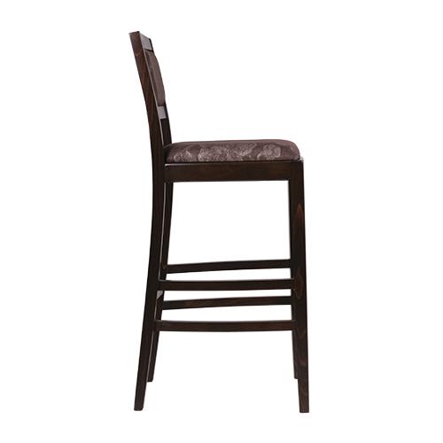 Dřevěné barové židle čalouněné opěradlo
