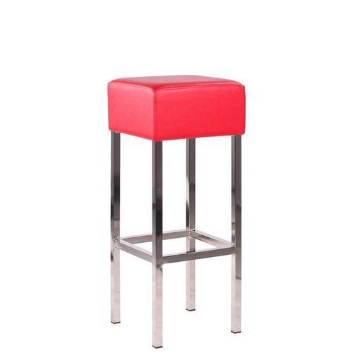 Kovové barové čalouněné židle chromované